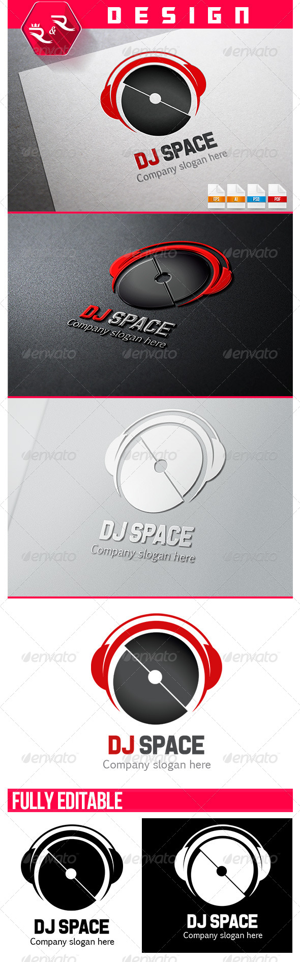 Dj Space Logo - Objects Logo Templates