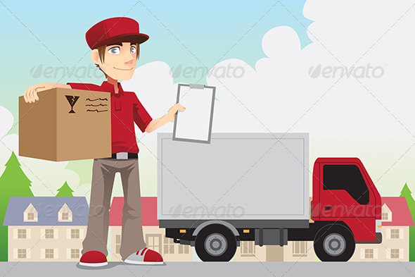 Delivery Person - People Characters