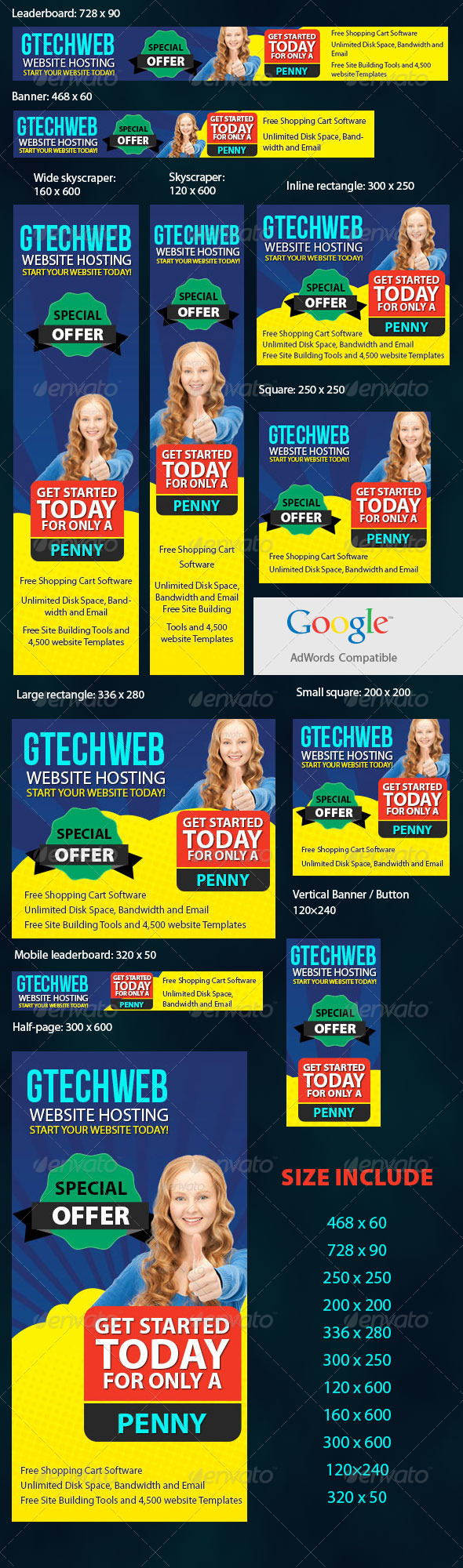 Creative Adwords Banners - Banners & Ads Web Elements