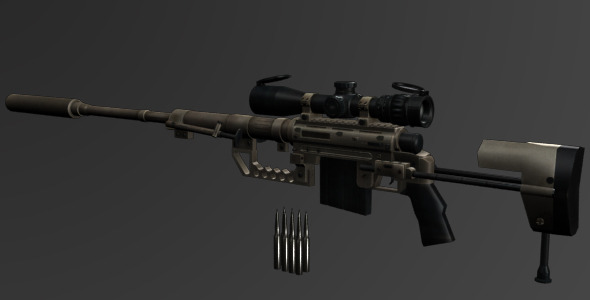 CheyTac M200 Intervention Sniper Rifle - 3DOcean Item for Sale