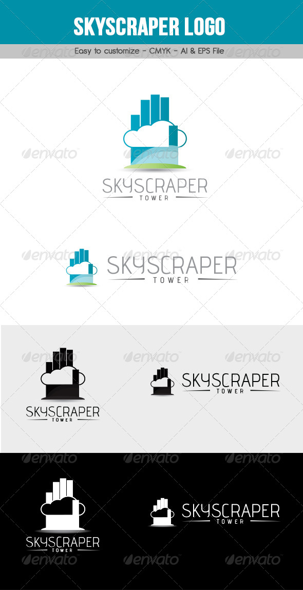 Skyscraper Logo - Buildings Logo Templates