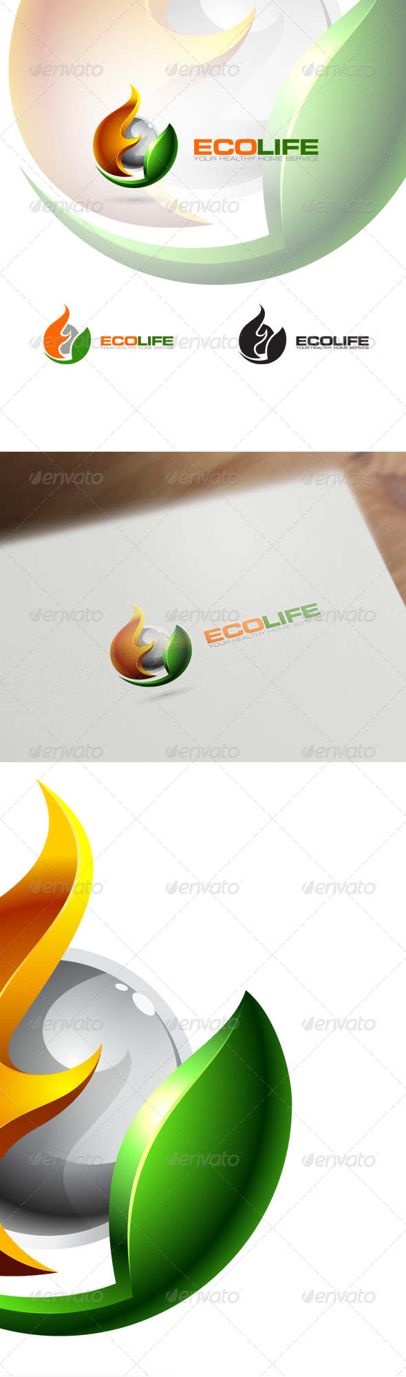 3D Eco Logo - Nature, Technology & Science - Nature Logo Templates