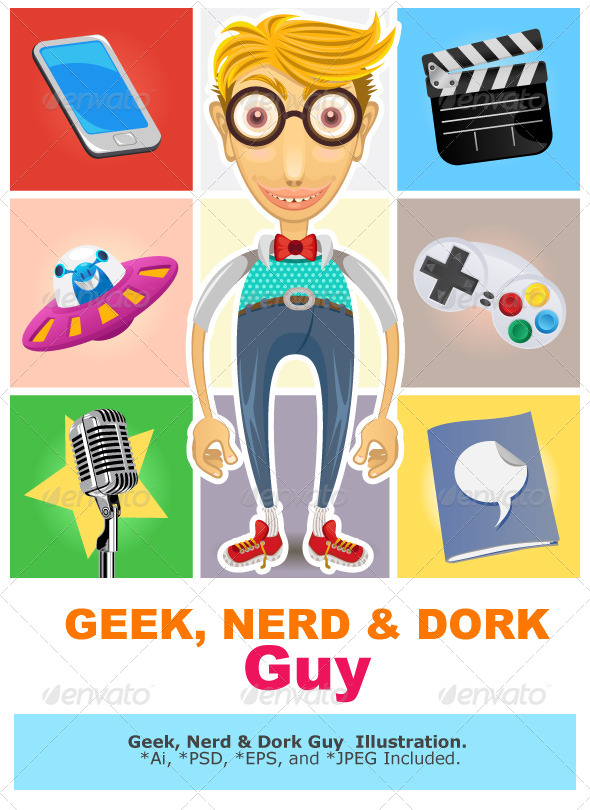 Type of Nerd Geek Dork Guy - Technology Conceptual