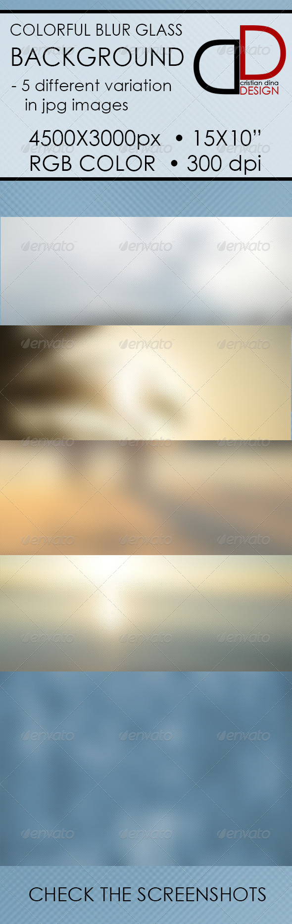 Colorful Blur Glass Background - Backgrounds Graphics