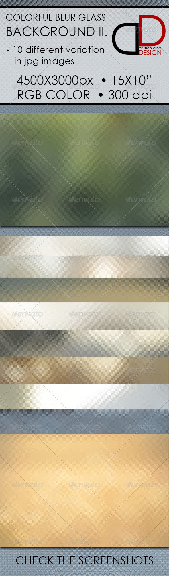 Colorful Blur Glass Background II. - Backgrounds Graphics