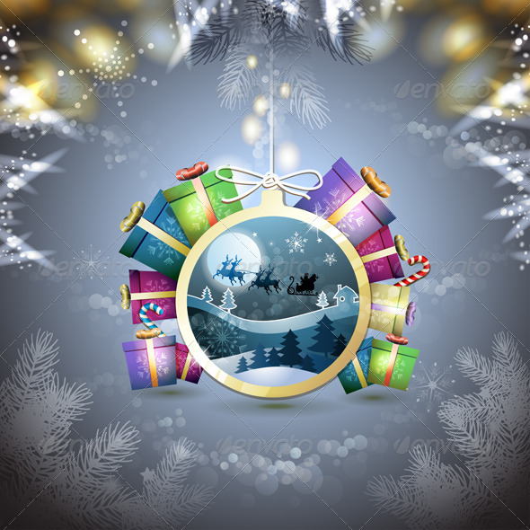 Christmas with Gifts  - Christmas Seasons/Holidays