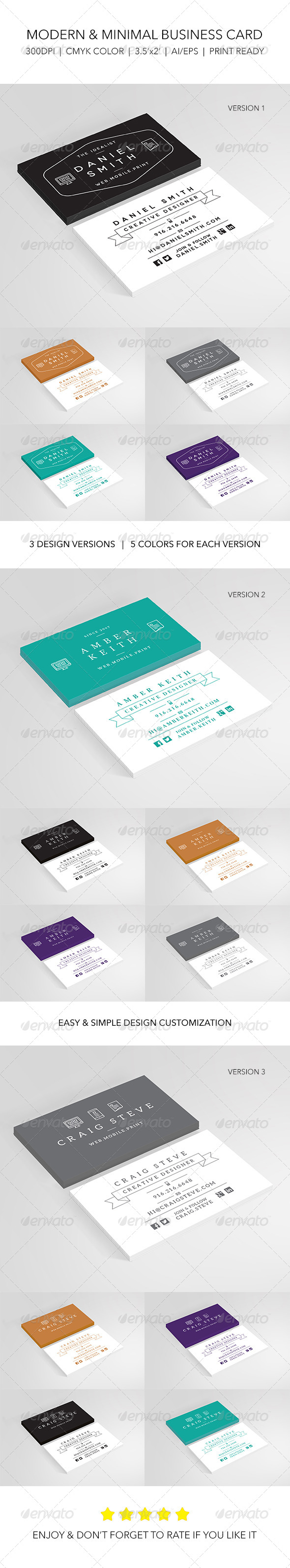 Creative Modern Designer Business Card - Creative Business Cards