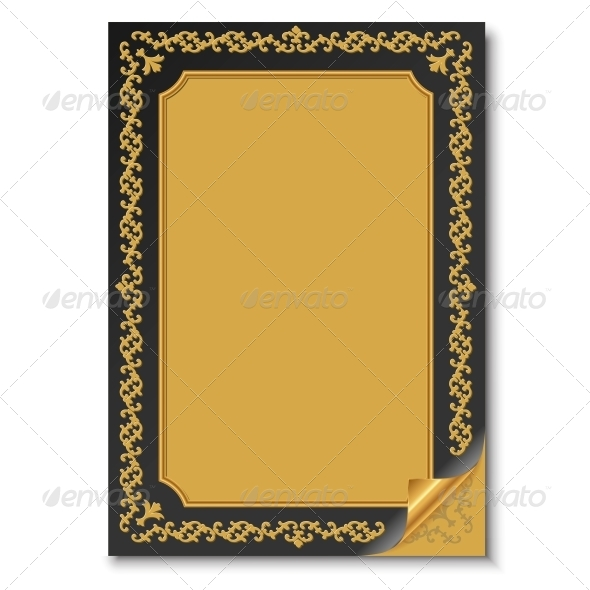 Old Paper with Oriental Ornament - Backgrounds Decorative