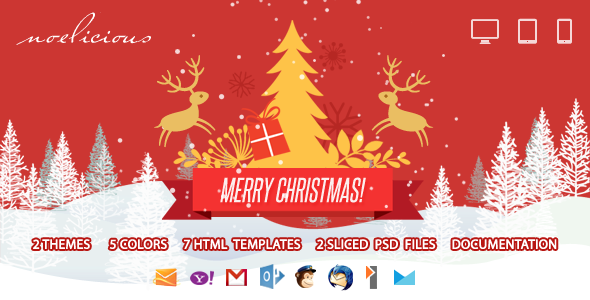 Noelicious - Responsive Email Template - Email Templates Marketing