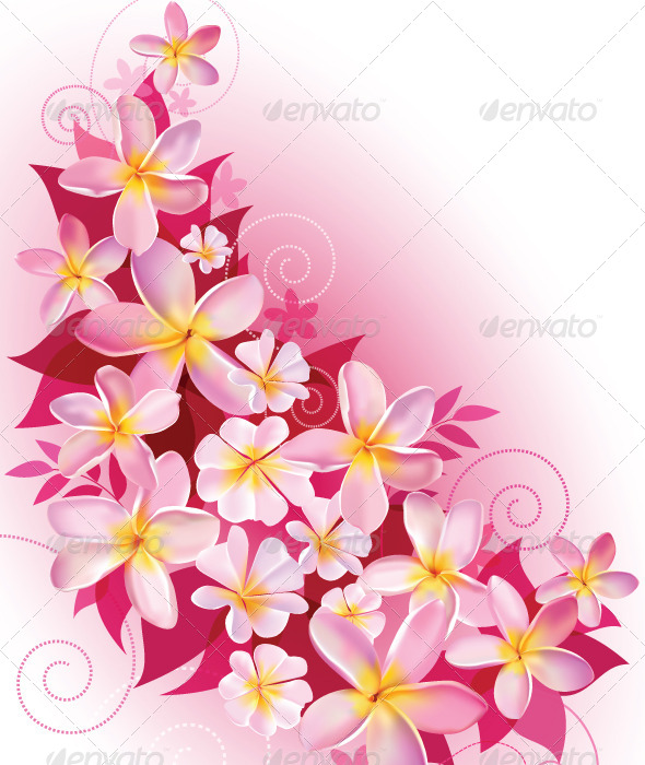 Greeting Card Or Invitation With Floral Background By Miav