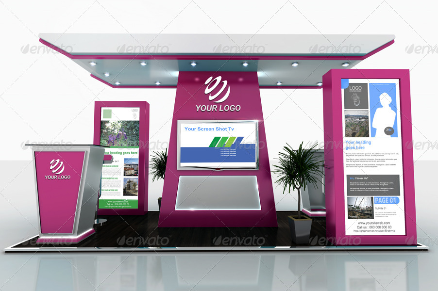 Exhibition Stand Design Mockup Psd : Exhibition stand design vol by brahmia graphicriver