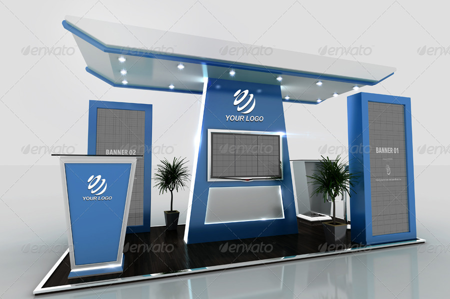 Exhibition Stand Design Mockup Free : Exhibition stand mock ups free in psd free mockup