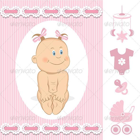 Baby Girl - Characters Vectors