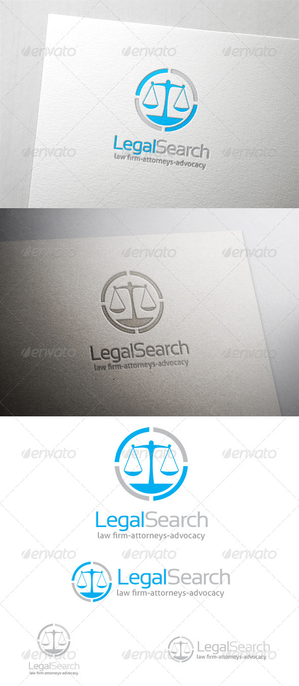 Legal Search Logo - Symbols Logo Templates