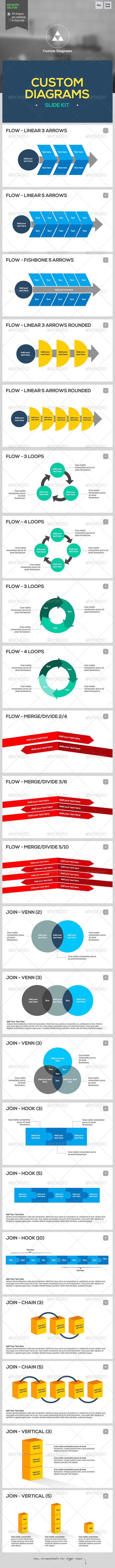 Custom Diagrams - Keynote Template  - Keynote Templates Presentation Templates