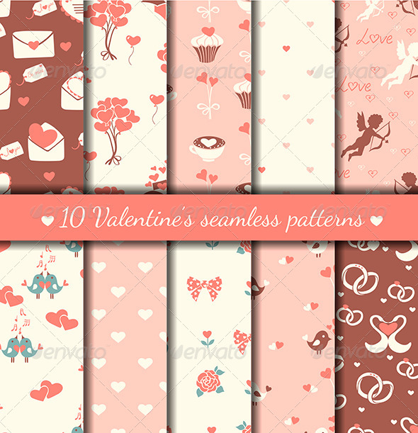Valentine's Seamless Patterns - Patterns Decorative