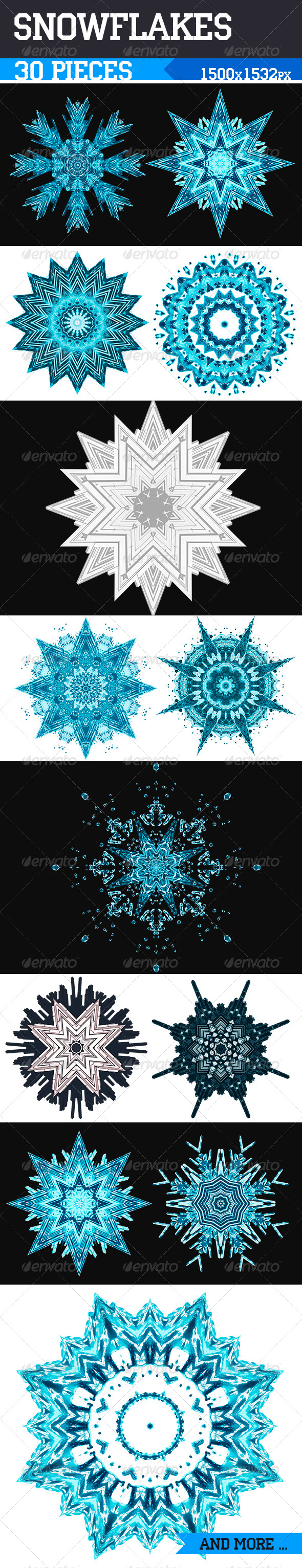 Snowflakes - Objects Illustrations