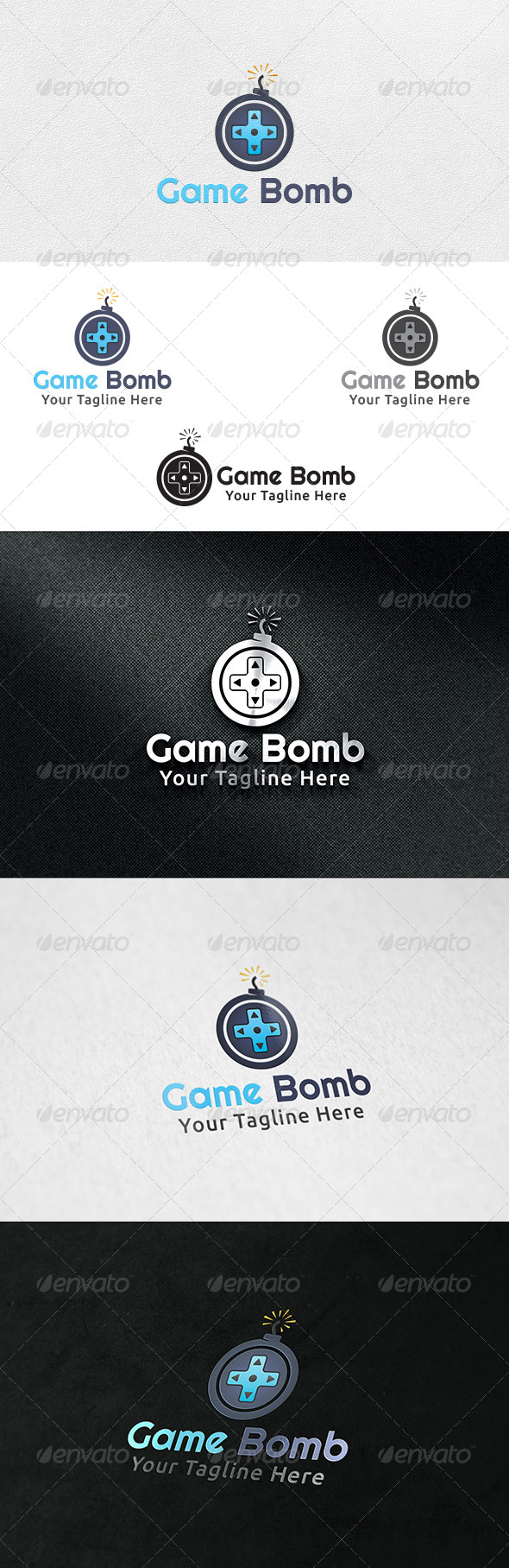Game Bomb - Logo Template - Symbols Logo Templates