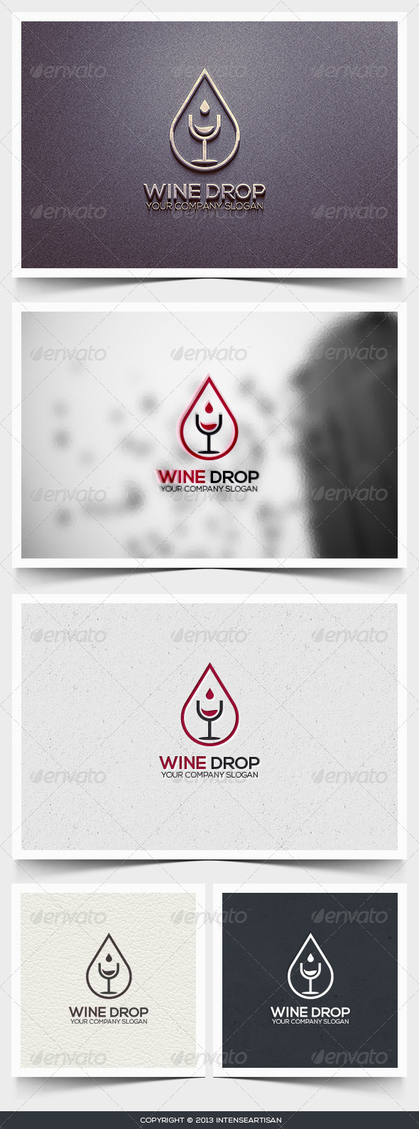 Wine Drop Logo Template - Food Logo Templates