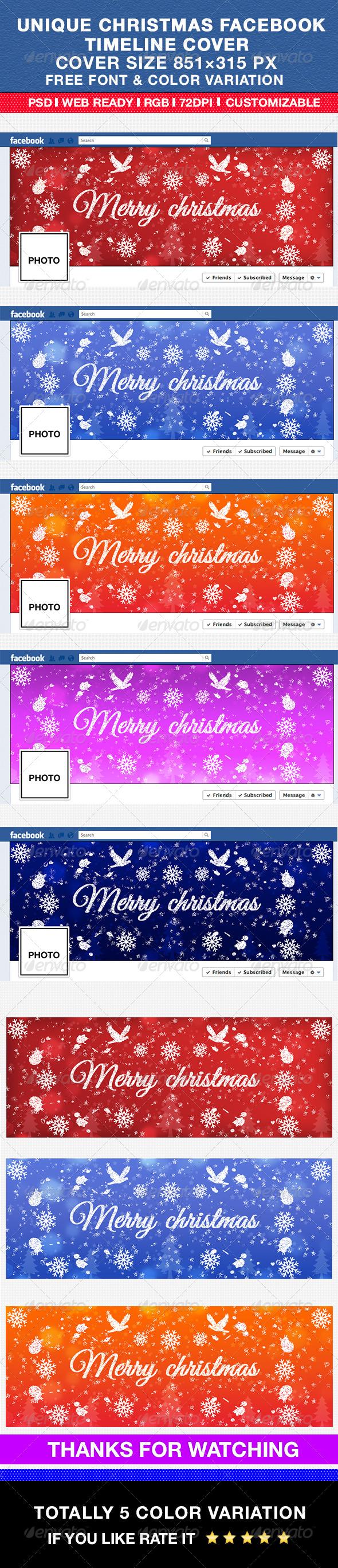 Unique Christmas Facebook Timeline Cover - Facebook Timeline Covers Social Media