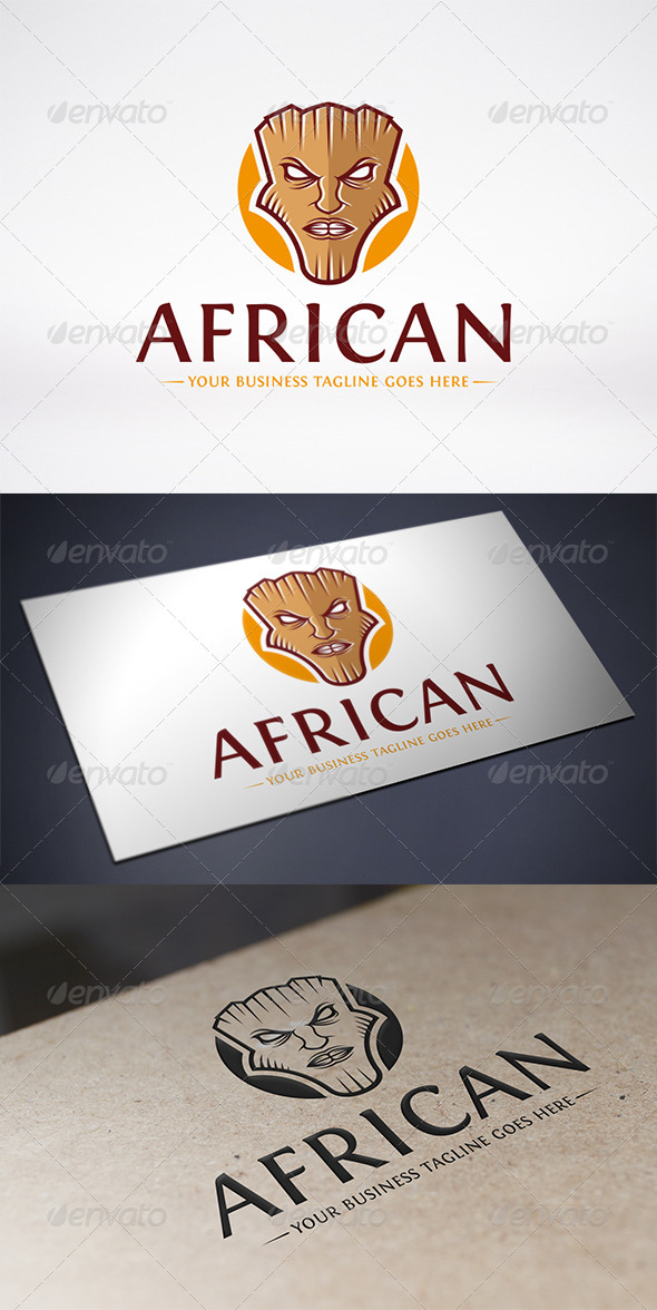African Mask Logo Template - Objects Logo Templates