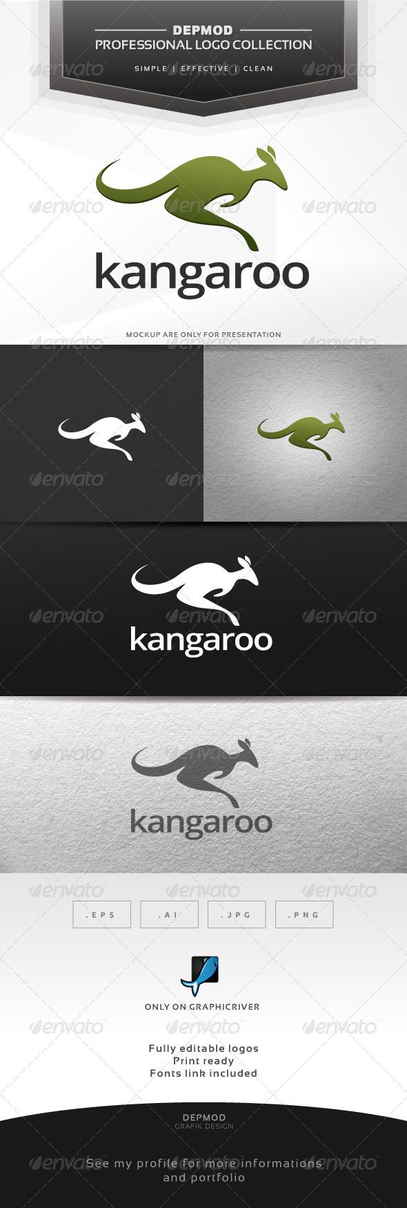 Kangaroo Logo - Animals Logo Templates