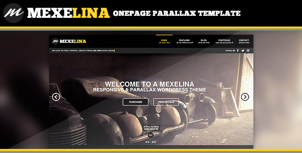 Mexelina – Onepage Parallax Template