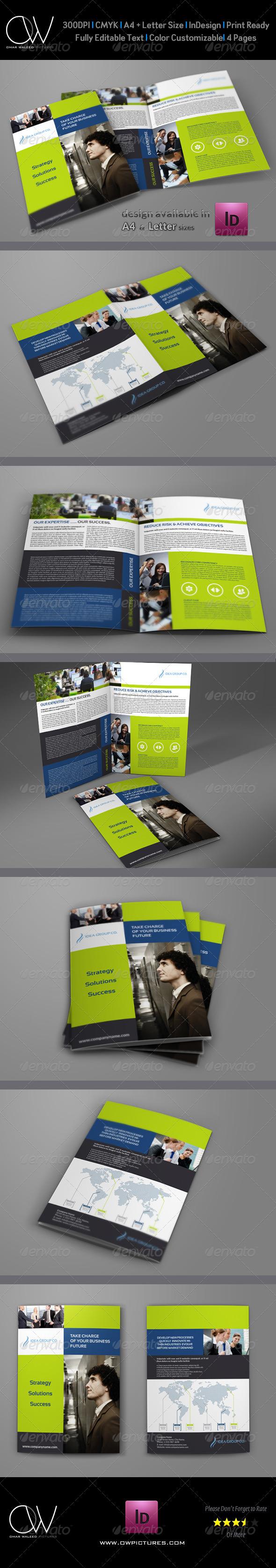 Company Brochure Bi-Fold Template Vol.12 - Corporate Brochures