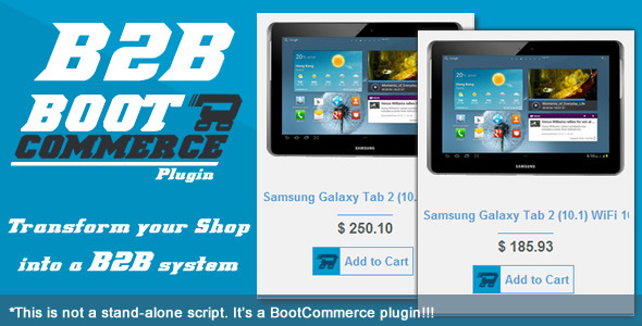 B2B WHOLESALE - RESELLER - Plugin For BootCommerce - CodeCanyon Item for Sale