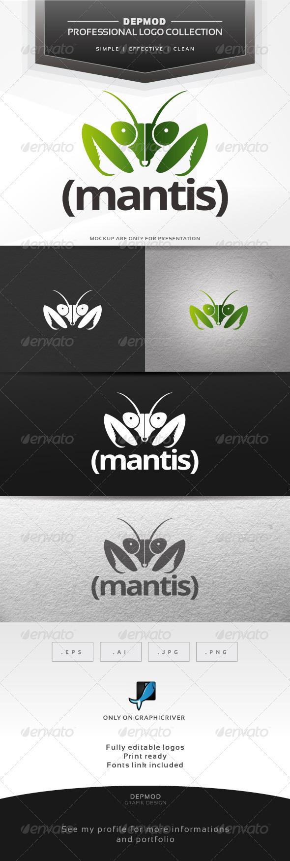 Mantis Logo - Animals Logo Templates
