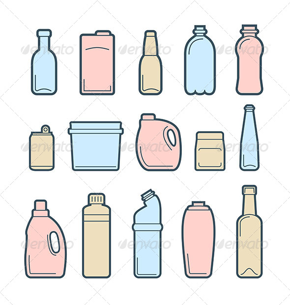 Beverage Container Icons - Objects Icons