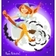 Young Witch on Broomstick in the Night Sky - GraphicRiver Item for Sale