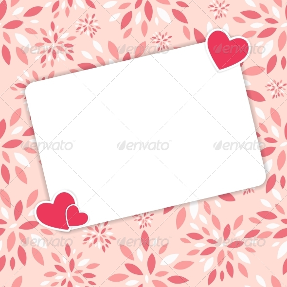 Valentines Day Heart Background, Vector - Valentines Seasons/Holidays