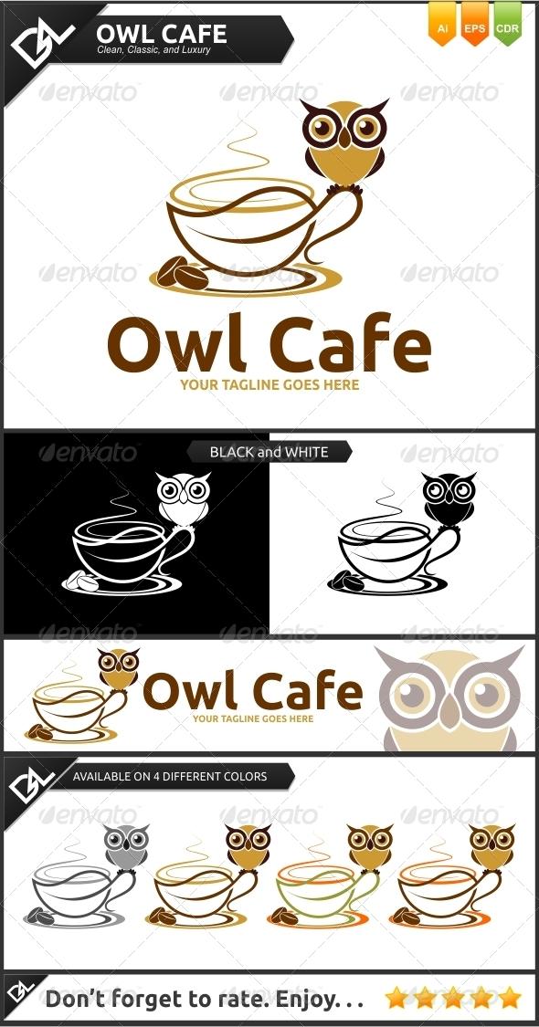 Owl Cafe - Food Logo Templates