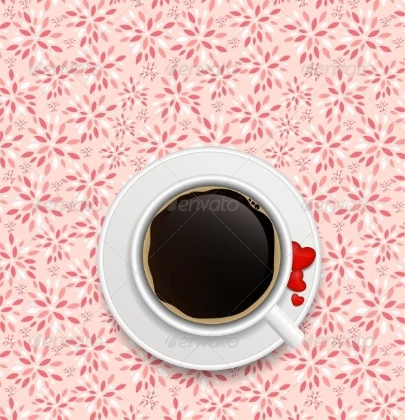 Coffee Invitation Background Vector - Birthdays Seasons/Holidays
