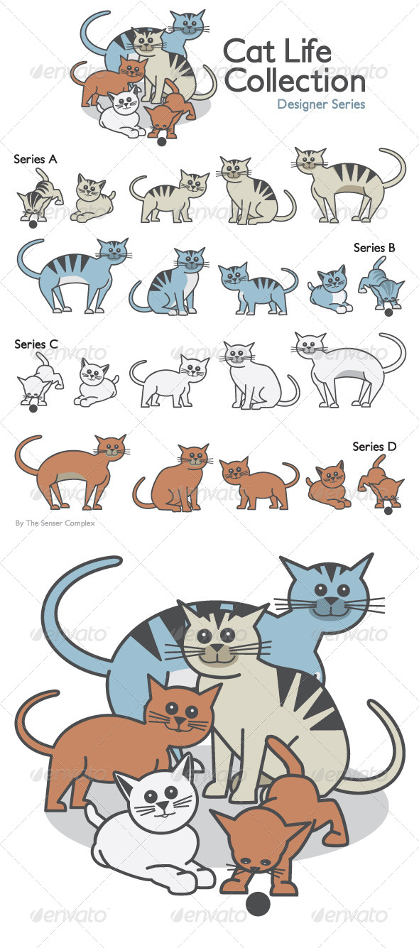 Cat Life Collection - Animals Characters