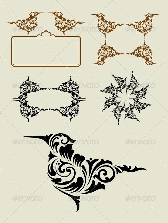 Bird Element Decoration - Decorative Symbols Decorative