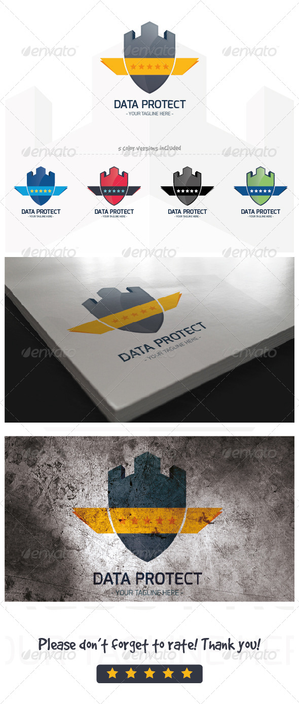 Data protect logo template - Buildings Logo Templates