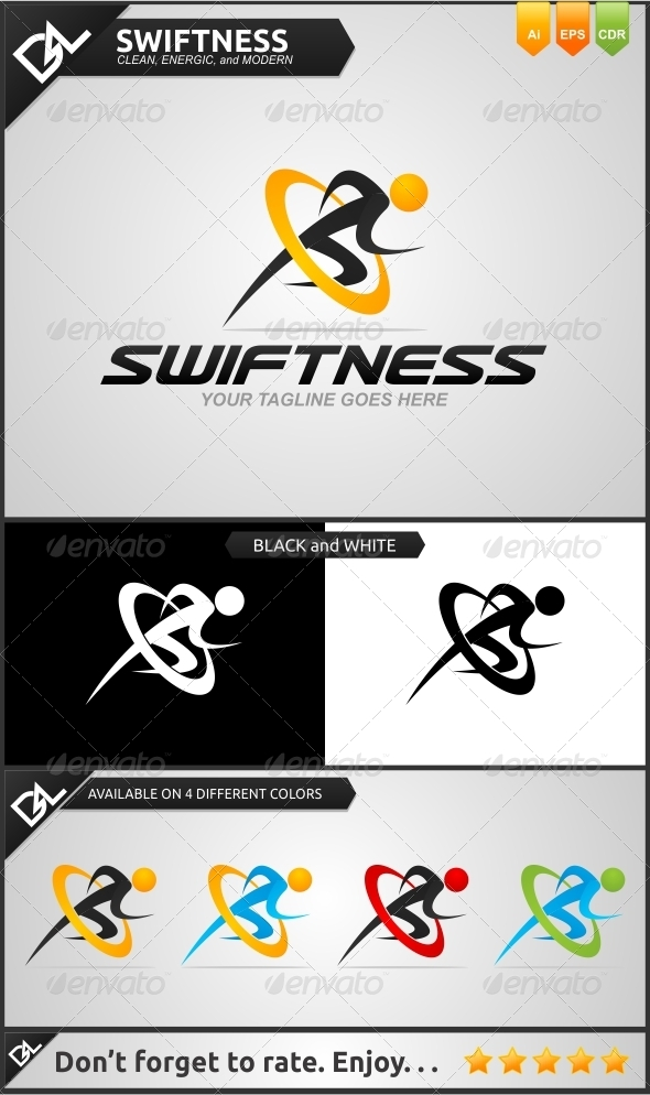 Swiftness  - Humans Logo Templates