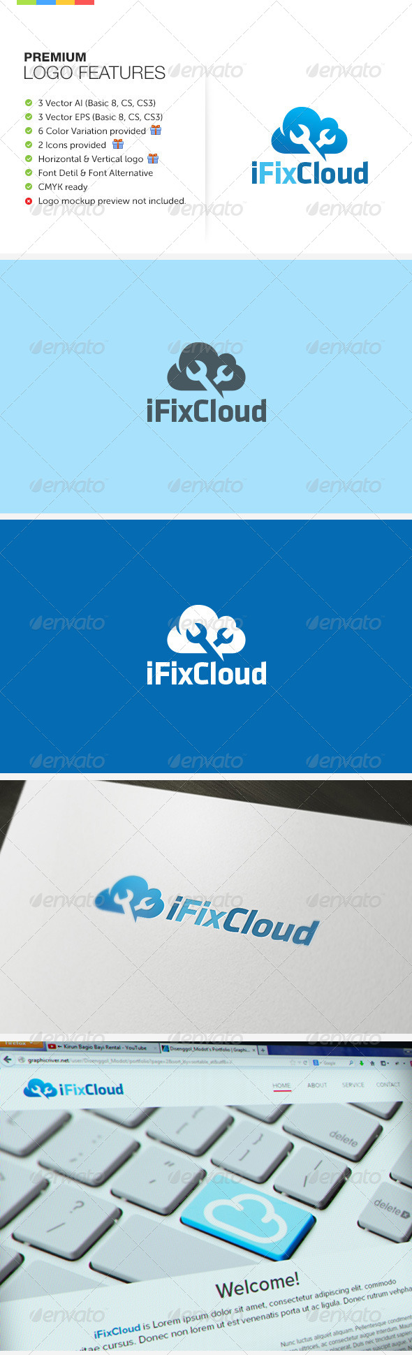 Fix Cloud Logo - Symbols Logo Templates