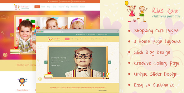 Kids Zone | Childern PSD