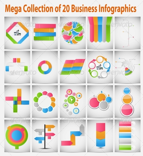 Mega Collection of Business Infographics - Web Technology