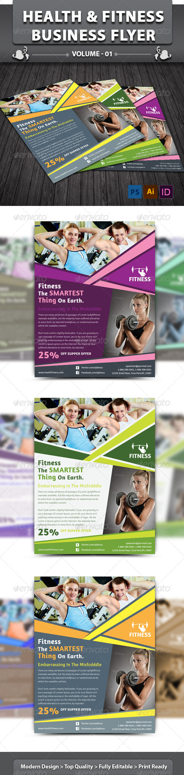 Health & Fitness Center Flyer | Volume 1 - Corporate Flyers