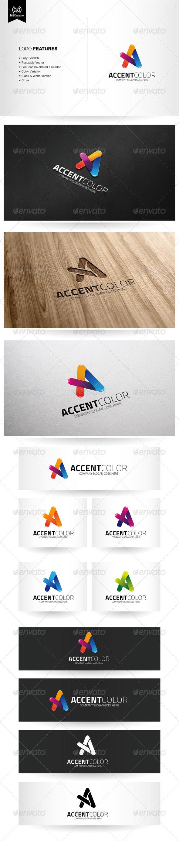 Colorful Letter A Logo - Letters Logo Templates