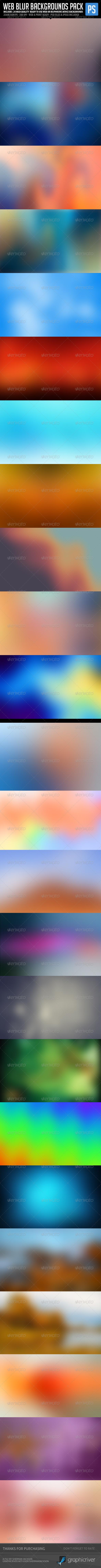 Web Blur Backgrounds Bundle Pack - Backgrounds Graphics