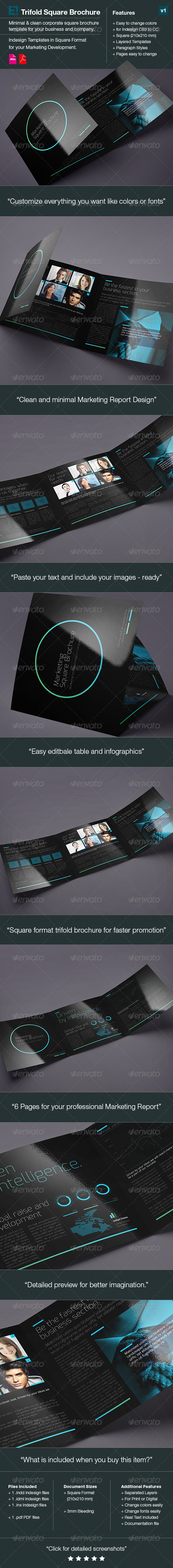 Square Trifold Brochure DoubleInk - Corporate Brochures