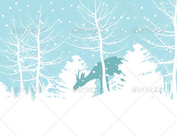 Deer in wood - Seasons Nature