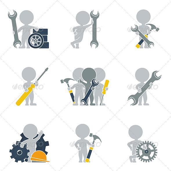 Flat People - Mechanics - People Characters