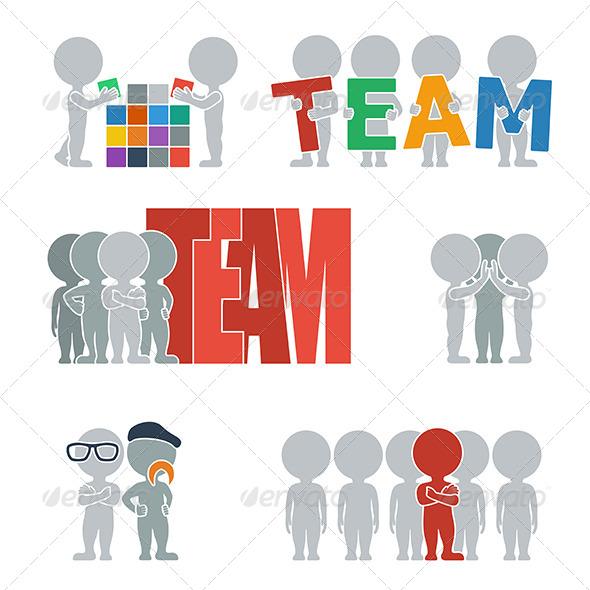 Flat People - Team - People Characters