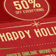 6X4 Retro Holiday Sale Postcard/Flyer  - GraphicRiver Item for Sale